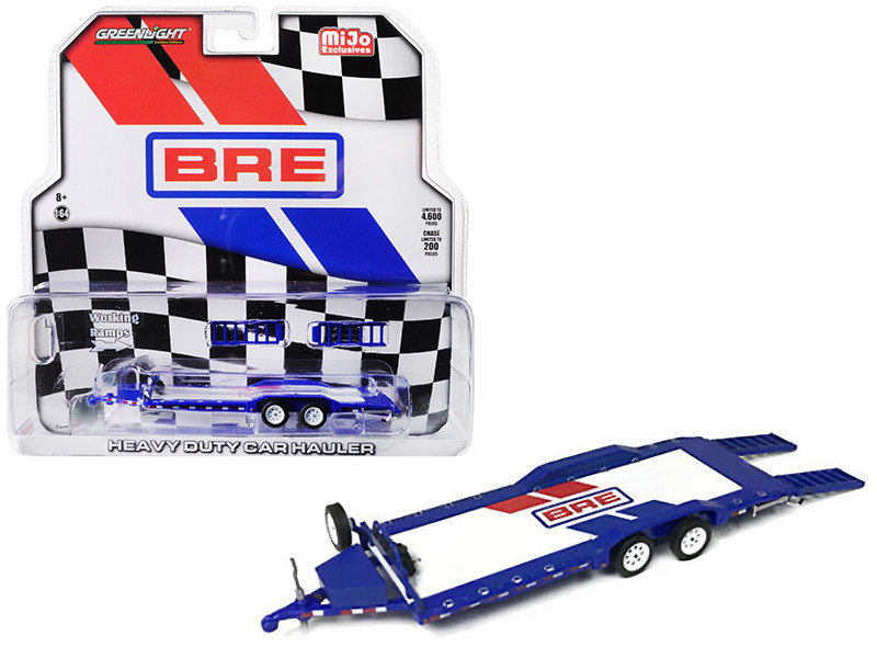 Heavy Duty Car Hauler Brock Racing Enterprises BRE Limited Edition 4600 pieces Worldwide 1/64 Diecast Model Greenlight 51259