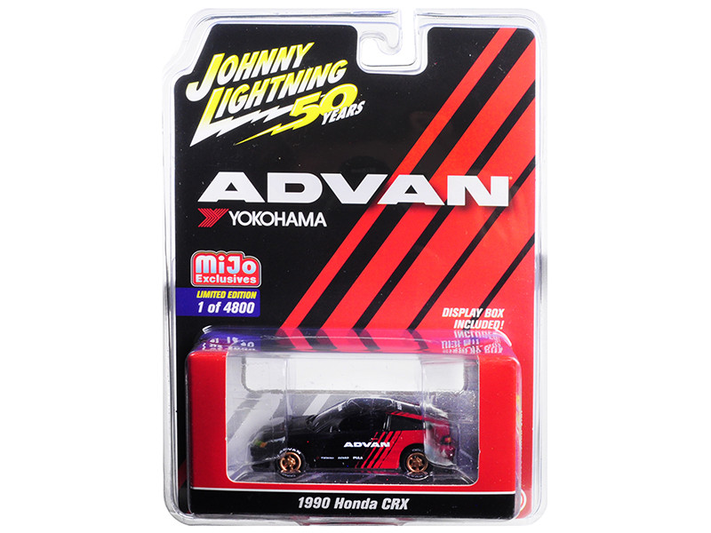 1990 Honda CRX ADVAN Yokohama Johnny Lightning 50th Anniversary Limited Edition 4800 pieces Worldwide 1/64 Diecast Model Car Johnny Lightning JLCP7215