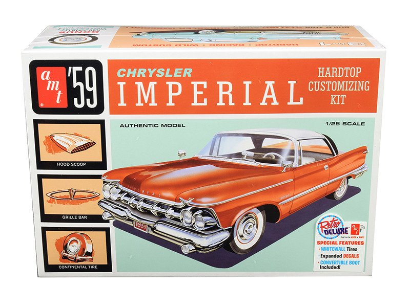 Skill 2 Model Kit 1959 Chrysler Imperial 3 in 1 Kit 1/25 Scale Model AMT AMT1136