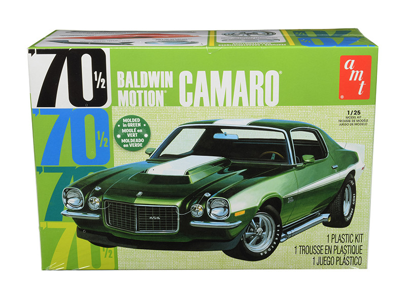 Skill 2 Model Kit 1970 1/2 Baldwin Motion Chevrolet Camaro 1/25 Scale Model AMT AMT855 M