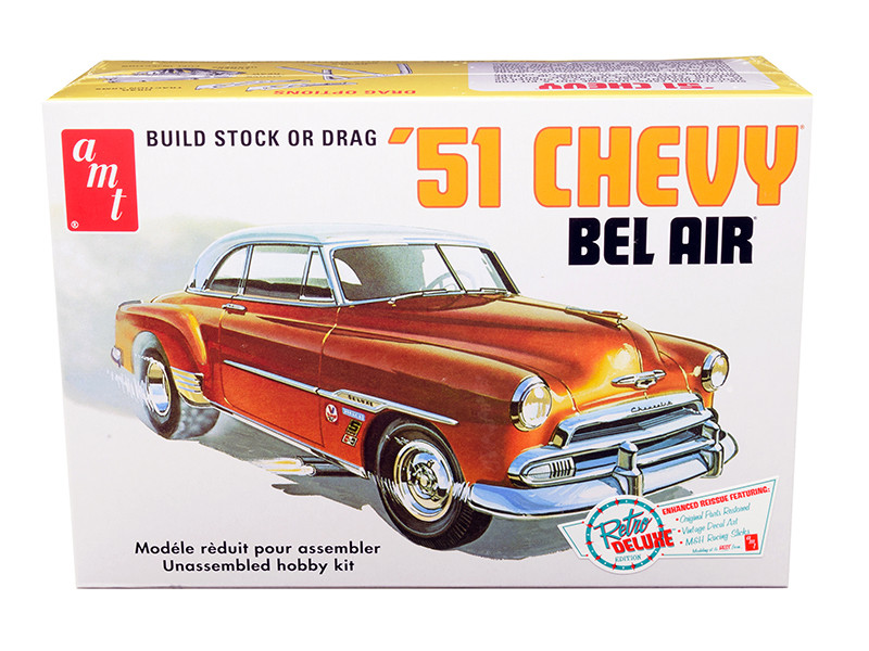 Skill 2 Model Kit 1951 Chevrolet Bel Air 2 in 1 Kit Retro Deluxe Edition 1/25 Scale Model AMT AMT862