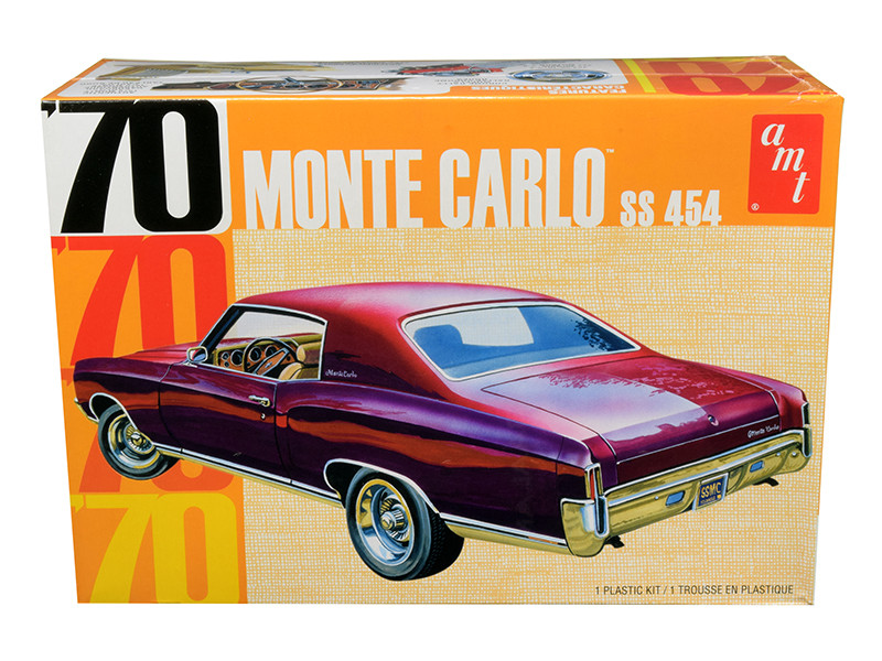 Skill 2 Model Kit 1970 Chevrolet Monte Carlo SS 454 1/25 Scale Model AMT AMT928 M