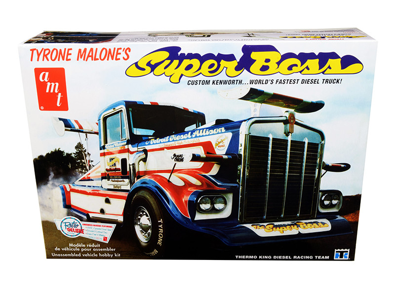 Skill 3 Model Kit Tyrone Malone's Kenworth Super Boss Drag Truck 1/25 Scale Model AMT AMT930