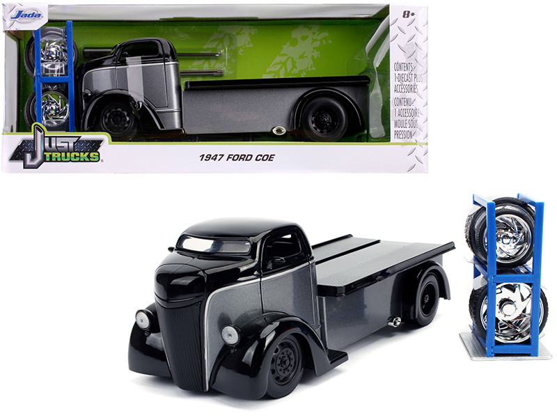 Diecast Model Cars Wholesale Toys Dropshipper Drop Shipping 1947 Ford Coe Flatbed Tow Truck Gray Black Extra Wheels Just Trucks Series 1 24 Jada 31540 Drop Shipping Wholesale Drop Ship Drop Shipper Dropship