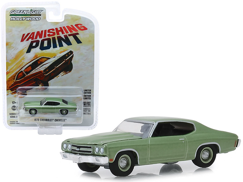 1970 Chevrolet Chevelle Green Vanishing Point 1971 Movie Hollywood Series Release 25 1/64 Diecast Model Car Greenlight 44850 B