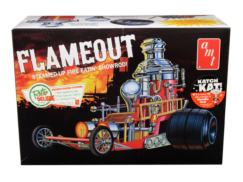 Skill 2 Model Kit Flameout Show Rod Revival Car 1/25 Scale Model AMT AMT934