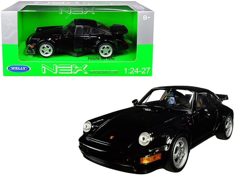 Porsche 964 Turbo Black 1/24 1/27 Diecast Model Car Welly 24023