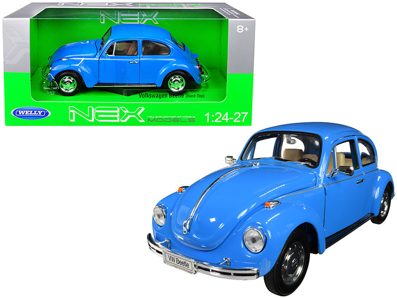 Volkswagen Beetle Blue 1/24 1/27 Diecast Model Car Welly 22436