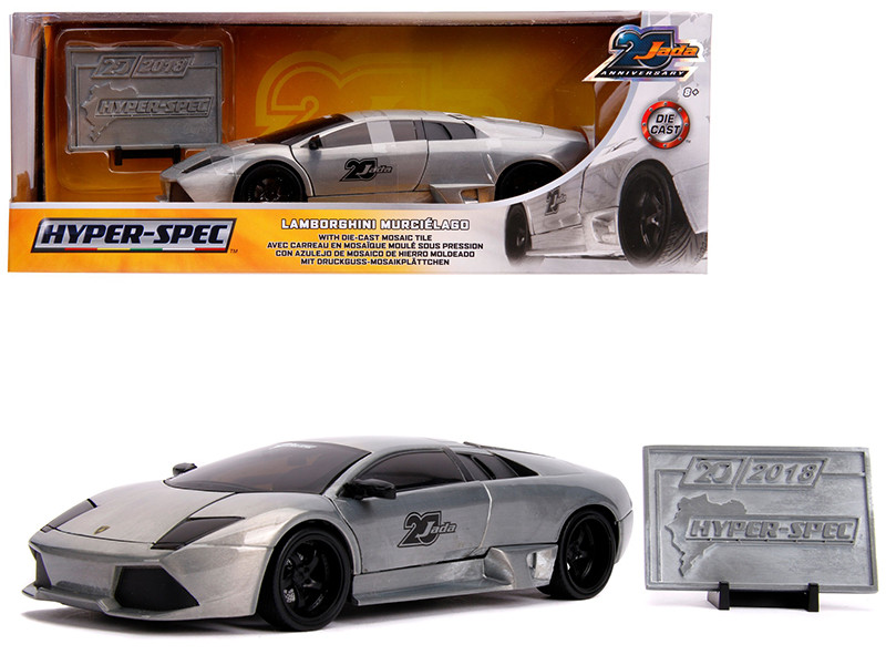 Lamborghini Murcielago Raw Metal Hyper-Spec Jada 20th Anniversary 1/24 Diecast Model Car Jada 31084
