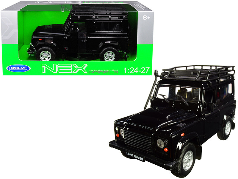 Land Rover Defender Roof Rack Black 1/24 1/27 Diecast Model Car Welly 22498