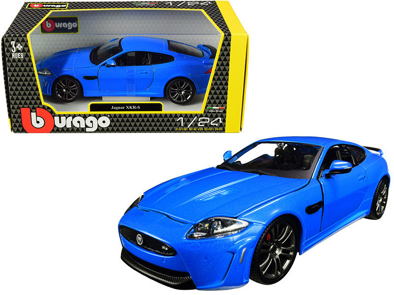 Jaguar XKR-S Metallic Blue 1/24 Diecast Model Car Bburago 21063