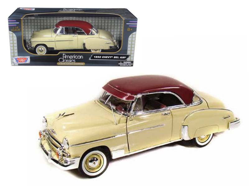 1950 Chevrolet Bel Air Cream 1/18 Diecast Model Car Motormax 73111