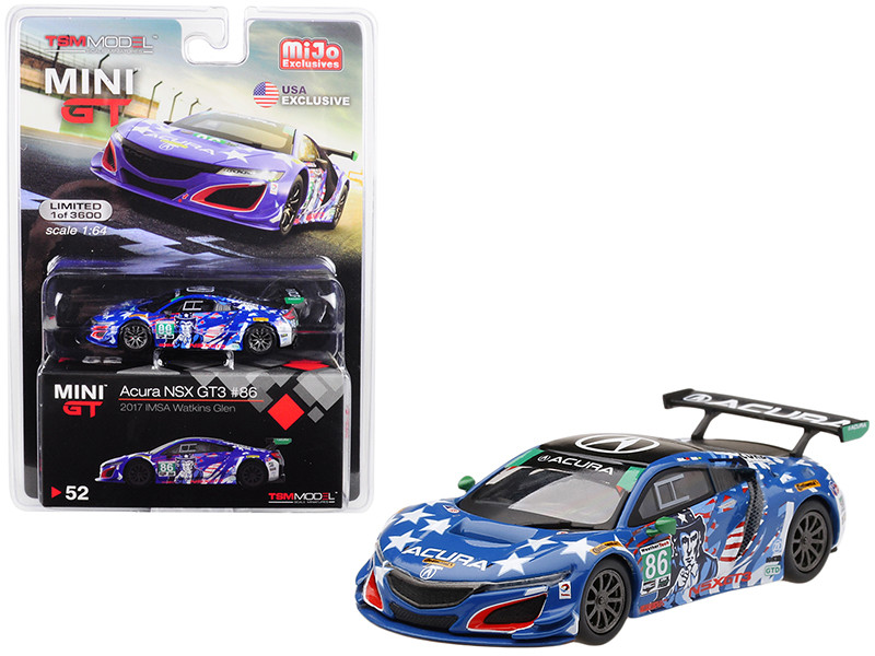 Acura NSX GT3 #86 Uncle Sam 2017 IMSA Watkins Glen Limited Edition 3600 pieces Worldwide 1/64 Diecast Model Car True Scale Miniatures MGT00052