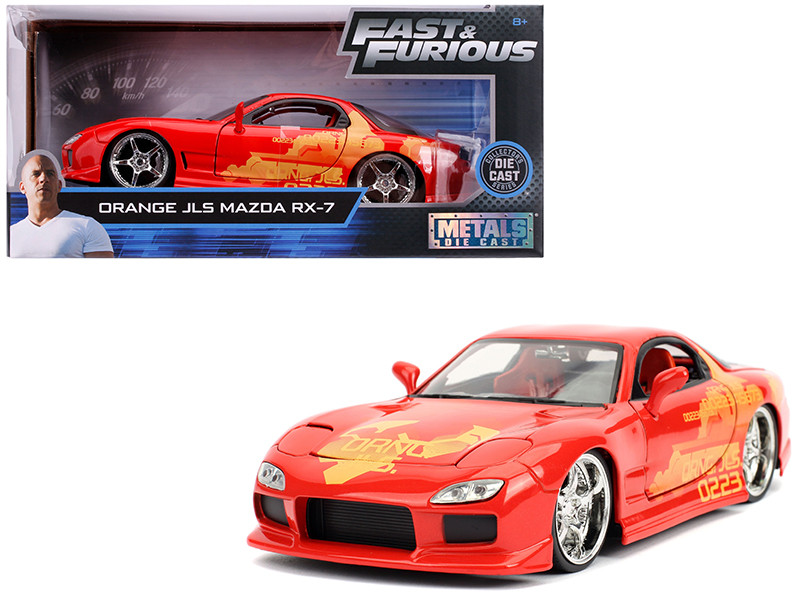 Orange Julius' Mazda RX-7 Fast & Furious Movie 1/24 Diecast Model Car Jada 30747