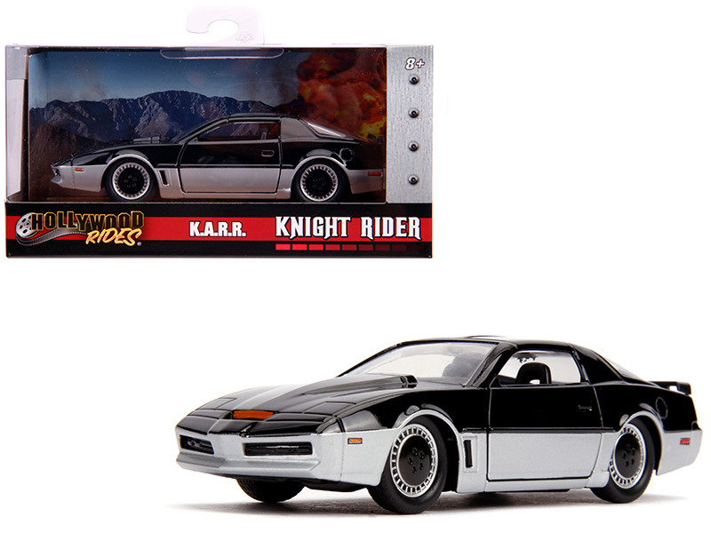 KARR Black and Silver Knight Rider 1982 TV Series Hollywood Rides Series 1/32 Diecast Model Car Jada 31116
