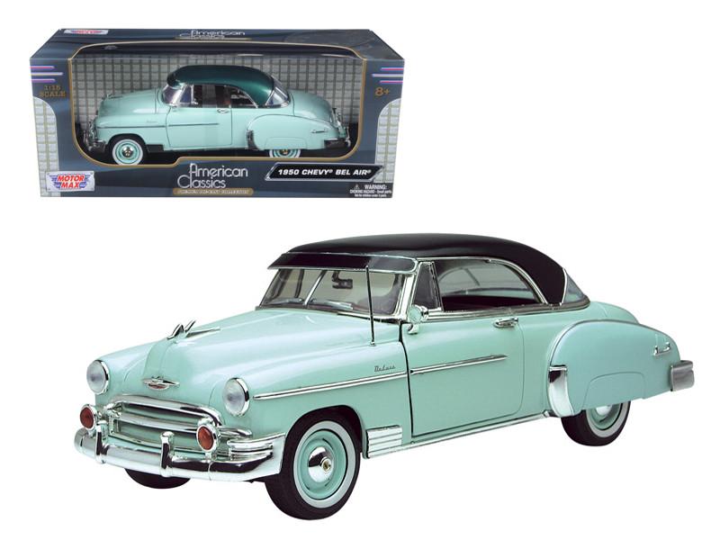 1950 Chevrolet Bel Air Green 1/18 Diecast Model Car Motormax 73111