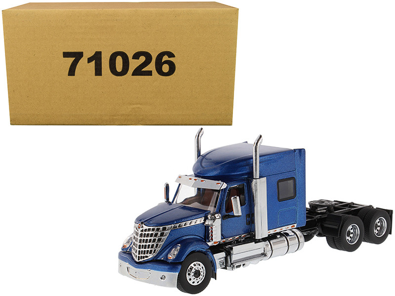 International LoneStar Sleeper Cab Truck Tractor Blue 1/50 Diecast Model Diecast Masters 71026