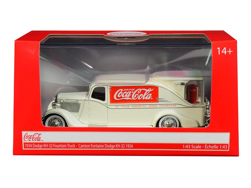 1934 Dodge KH-32 Streamline Fountain Truck Coca Cola Cream 1/43 Diecast Model Car Motorcity Classics 443934