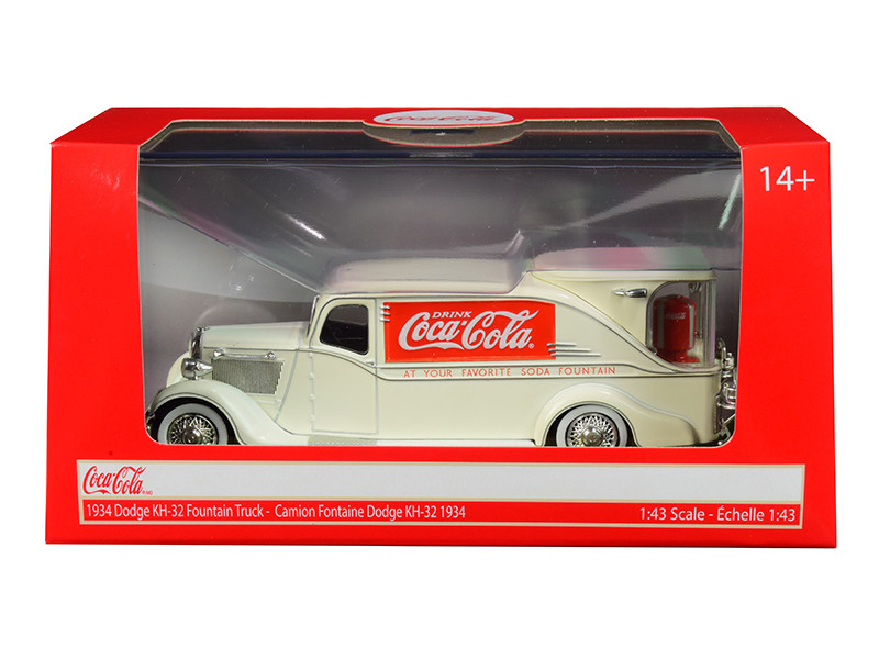 1934 Dodge KH-32 Streamline Fountain Truck Coca Cola Cream 1/43 Diecast Model Car Motorcity Classics 443934