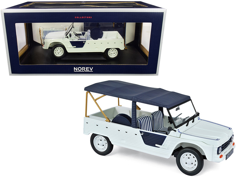 1983 Citroen Mehari Azur Bluish White Dark Blue Top 1/18 Diecast Model Car Norev 181516