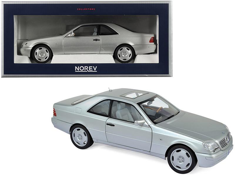 1997 Mercedes Benz CL600 Coupe Metallic Silver 1/18 Diecast Model Car Norev 183446