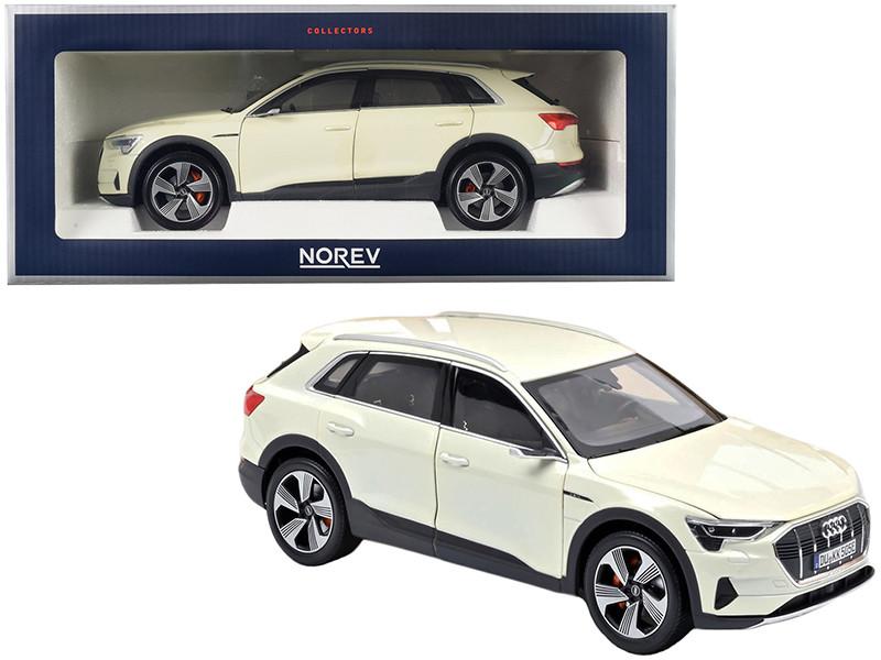 2019 Audi e-tron Yellowish White Metallic 1/18 Diecast Model Car Norev 188310