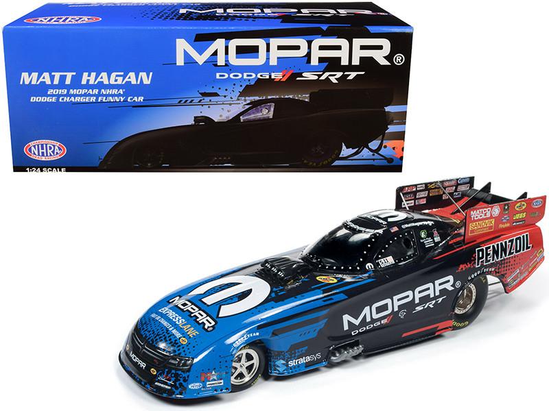 2019 MOPAR NHRA Dodge Charger Funny Car Matt Hagan 1/24 Diecast Model Car Autoworld CP7554