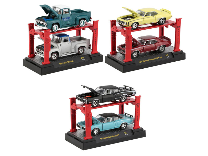 Auto Lift Release 17 Set of 6 pieces 1/64 Diecast Model Cars M2 Machines 33000-17