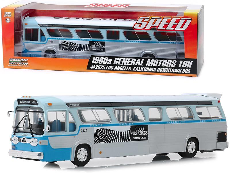 1960's General Motors TDH #33 Intercity Bus Lines Santa Monica California Speed 1994 Movie 1/43 Diecast Model Greenlight 86544