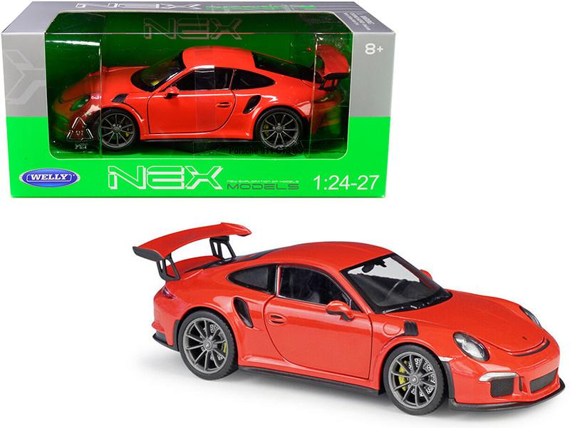 Porsche 911 GT3 RS Orange 1/24 1/27 Diecast Model Car Welly 24080