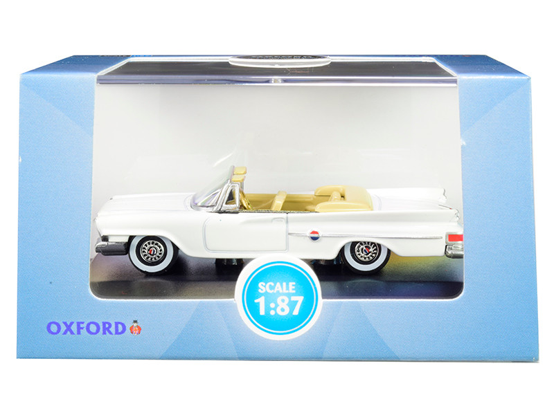 1961 Chrysler 300 Convertible Alaskan White 1/87 HO Scale Diecast Model Car Oxford Diecast 87CC61003