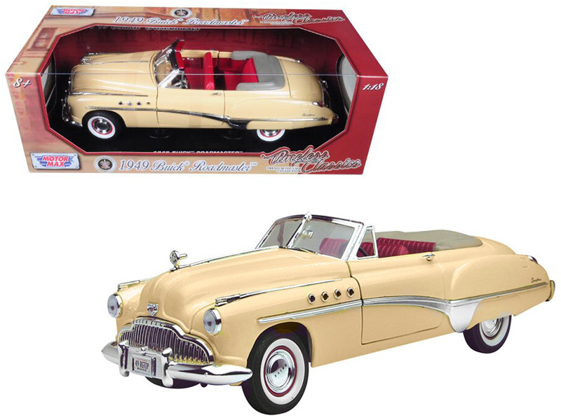 1949 Buick Roadmaster Cream 1/18 Diecast Model Car Motormax 73116