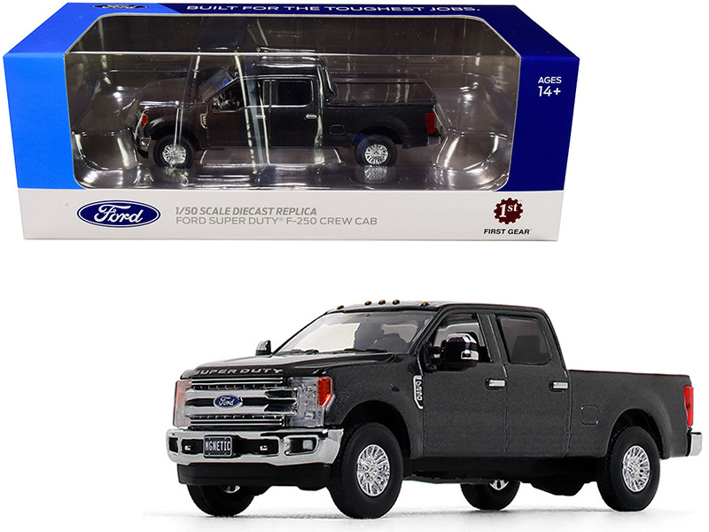Ford F-250 Crew Cab Super Duty Pickup Truck Magnetic Gray 1/50 Diecast Model Car First Gear 50-3416