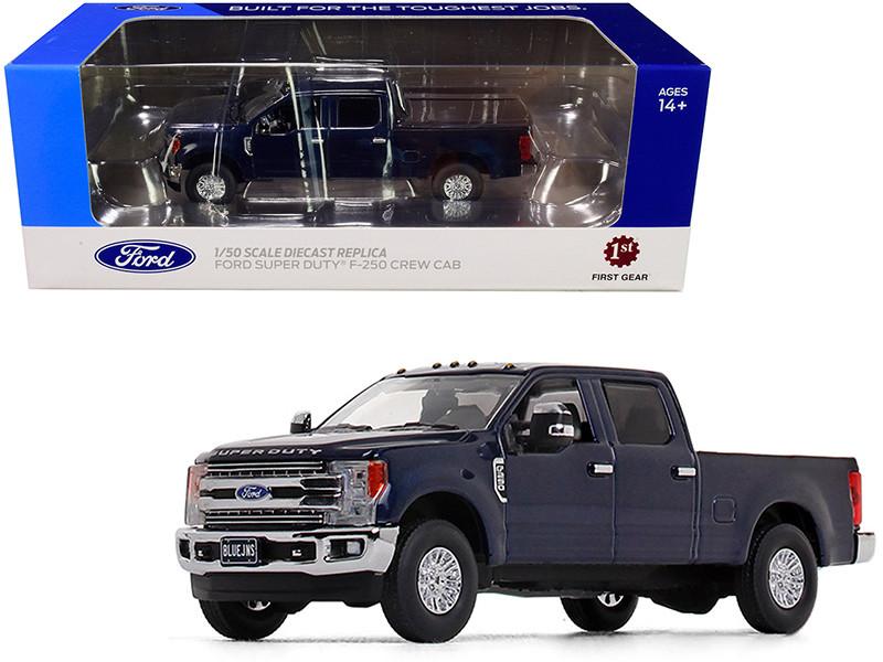 Ford F-250 Crew Cab Super Duty Pickup Truck Blue Jeans Dark 1/50 Diecast Model Car First Gear 50-3417