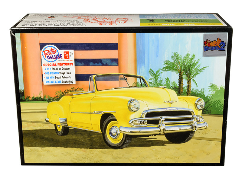 Skill 2 Model Kit 1951 Chevrolet Convertible Sun Cruiser 2 in 1 Kit 1/25 Scale Model AMT AMT1041