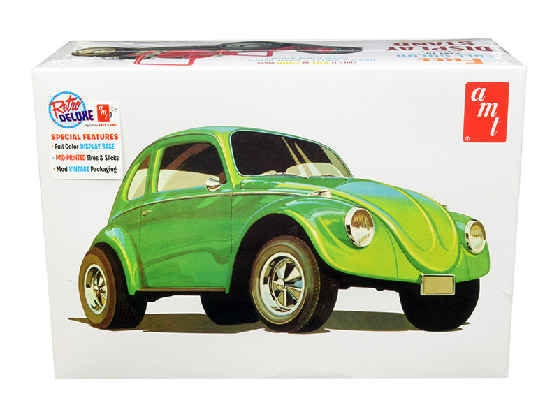 Skill 2 Model Kit Volkswagen Beetle Superbug Gasser 4 in 1 Kit 1/25 Scale Model AMT AMT1044