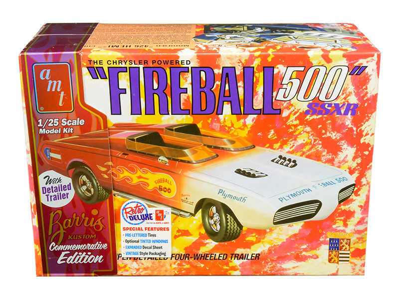 Skill 2 Model Kit George Barris Kustom 1965 Plymouth Barracuda Fireball 500 SSXR Commemorative Edition 1/25 Scale Model AMT AMT1068