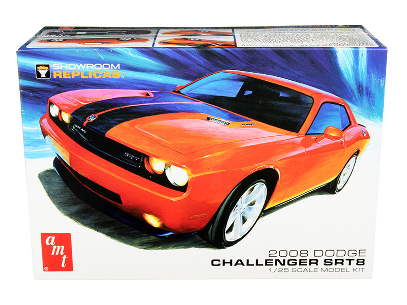 Skill 2 Model Kit 2008 Dodge Challenger SRT8 Showroom Replicas 1/25 Scale Model AMT AMT1075
