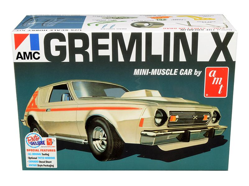Skill 2 Model Kit 1974 AMC Gremlin X Mini-Muscle Car 2 in 1 Kit 1/25 Scale Model AMT AMT1077