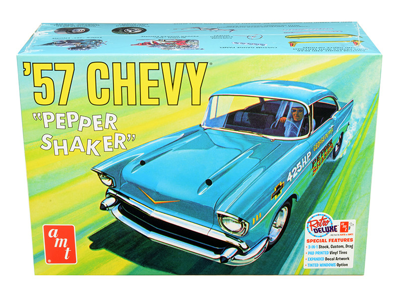 Skill 2 Model Kit 1957 Chevrolet Pepper Shaker 3 in 1 Kit 1/25 Scale Model AMT AMT1079