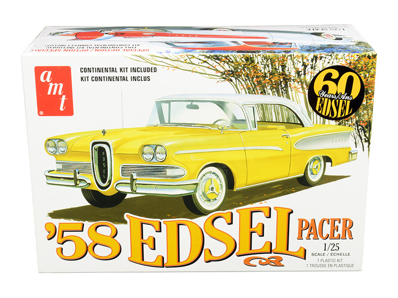 Skill 2 Model Kit 1958 Edsel Pacer 60 Years of Edsel 1/25 Scale Model AMT AMT1087 M