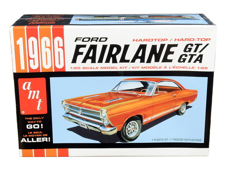 Skill 2 Model Kit 1966 Ford Fairlane GT Hardtop 1/25 Scale Model AMT AMT1091 M