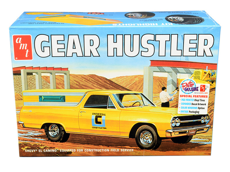 Skill 2 Model Kit 1965 Chevrolet El Camino Gear Hustler Pickup 1/25 Scale Model AMT AMT1096
