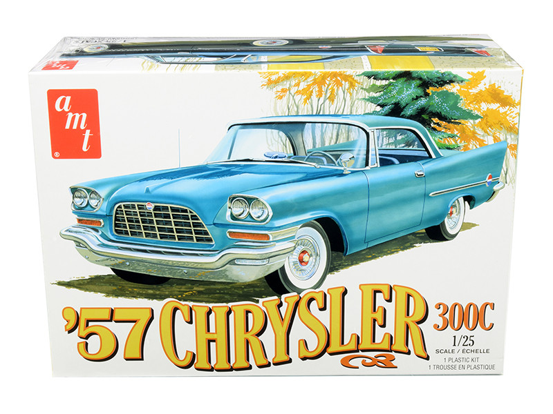 Skill 2 Model Kit 1957 Chrysler 300C 1/25 Scale Model AMT AMT1100 M
