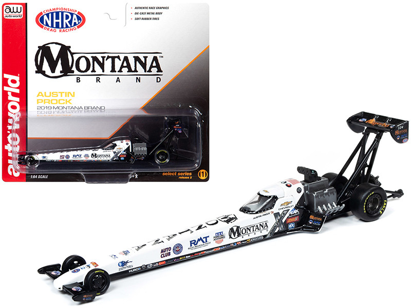 2019 NHRA TFD Top Fuel Dragster Austin Prock Montana Brand 1/64 Diecast Model Car Autoworld AW64006 AWSP027