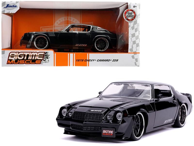 1979 Chevrolet Camaro Z28 Glossy Black Bigtime Muscle 1/24 Diecast Model Car Jada 31584