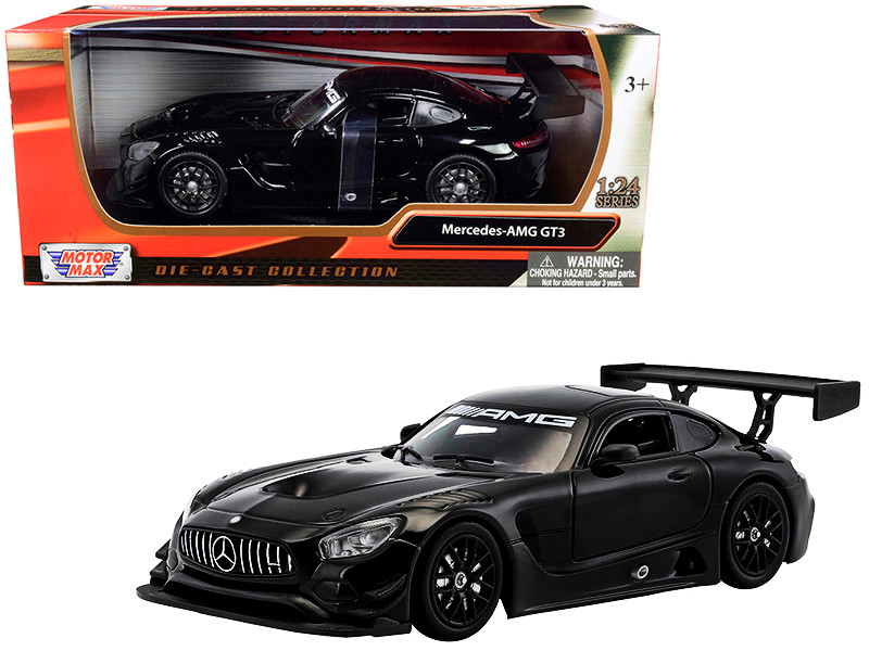 Mercedes AMG GT3 Black 1/24 Diecast Model Car Motormax 73386