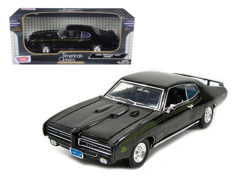 1969 Pontiac GTO Judge Black 1/18 Diecast Car Model Motormax 73133