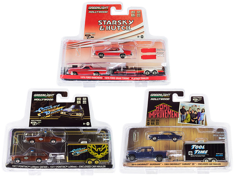 Hollywood Hitch & Tow Series 7 Set of 3 1/64 Diecast Model Cars Greenlight 31080