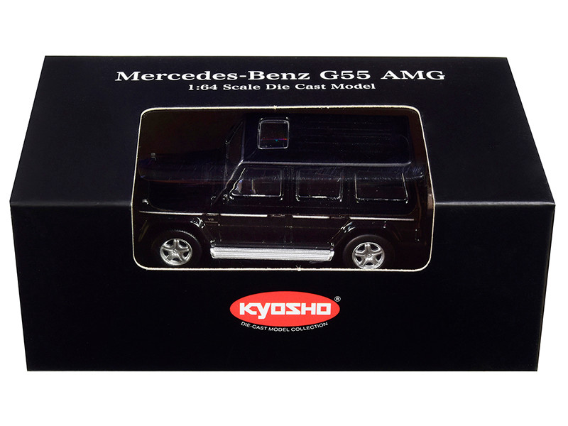 Mercedes Benz G55 AMG Black 1/64 Diecast Model Car Kyosho K07021G1